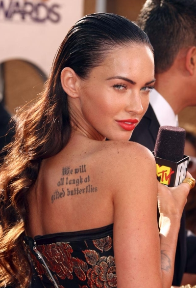 Image comment: Megan Fox says if Angelina Jolie can have tattoos and a