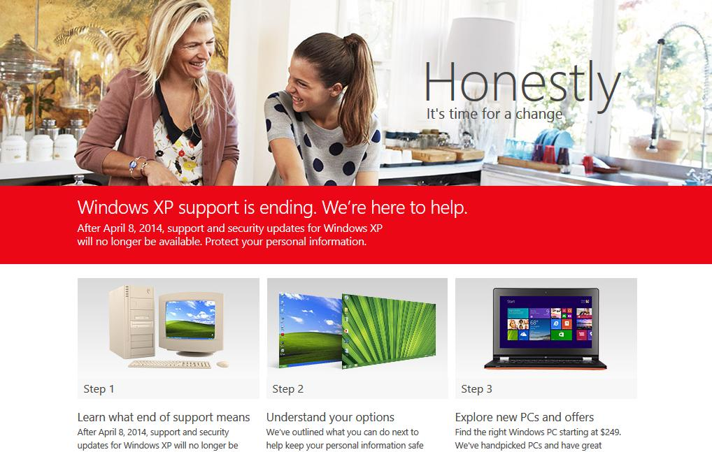 Microsoft Launches New Anti-Windows XP Campaign: Honestly ...