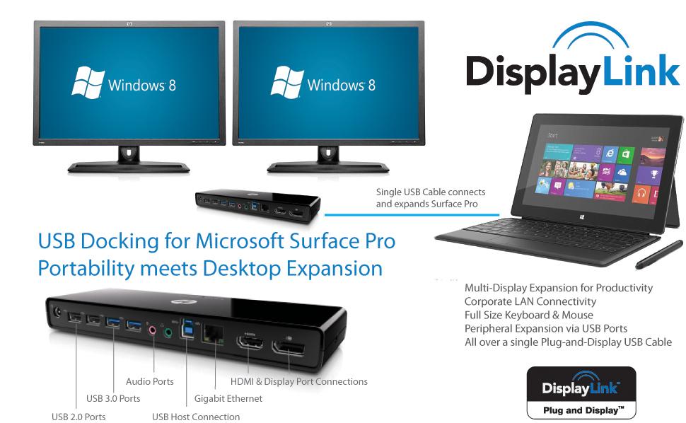 Microsoft Surface Pro Tablet Gets Displaylink Usb Dock