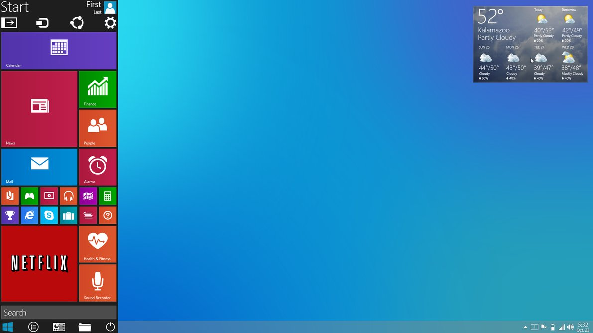 modern design and evolution windows 9 concept mixes the desktop and