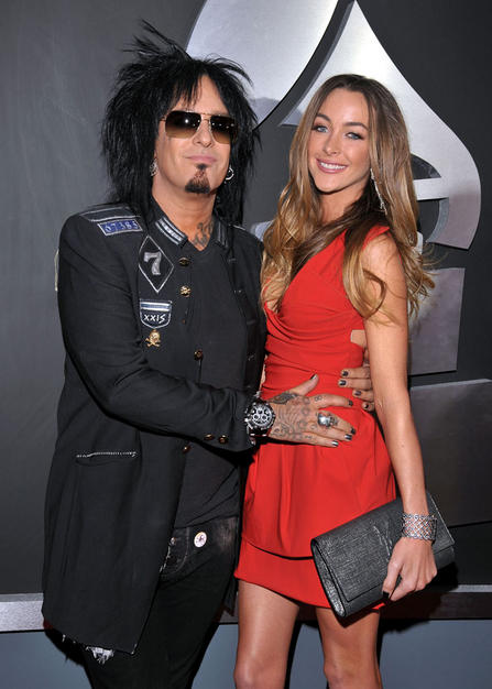 Nikki Sixx with beautiful, Wife Courtney Bingham