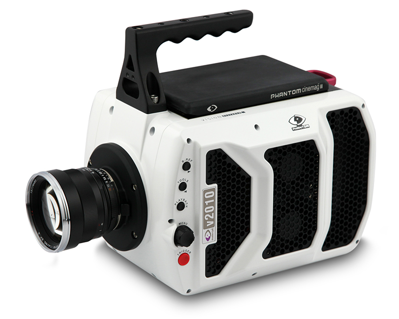 Phantom v2010 ultra high speed camera can capture over 22 000 fps
