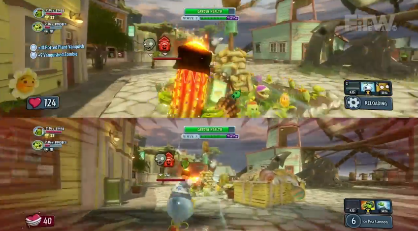 Plants Vs Zombies Garden Warfare Has Split Screen Mode Exclusive To Xbox One Softpedia