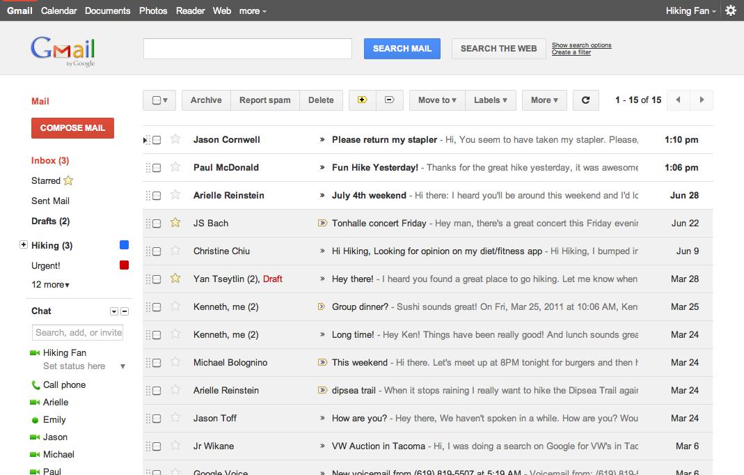 Google cambia el diseño de Gmail