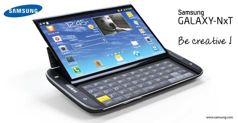 Samsung Galaxy NxT Concept Packs Tilting Design, QWERTY