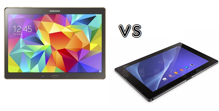 spot the difference samsung galaxy tab s 10 5 vs sony. Black Bedroom Furniture Sets. Home Design Ideas