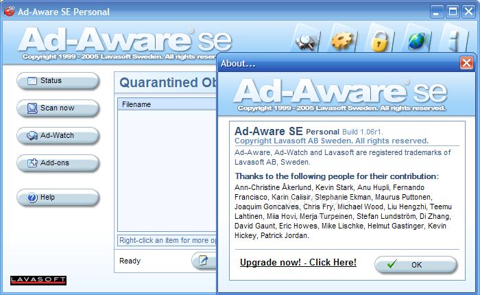 Ad aware se personal edition 1. 06.