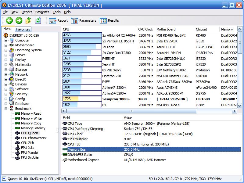 برنامج EVEREST Ultimate 4.20.1238 Beta لرصد معلومات مهمة