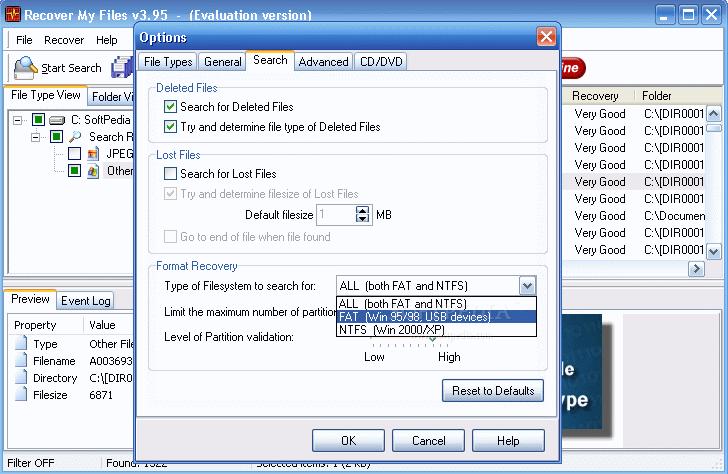 برنامج لإسترجاع الملفات المحذوفة الفورمات