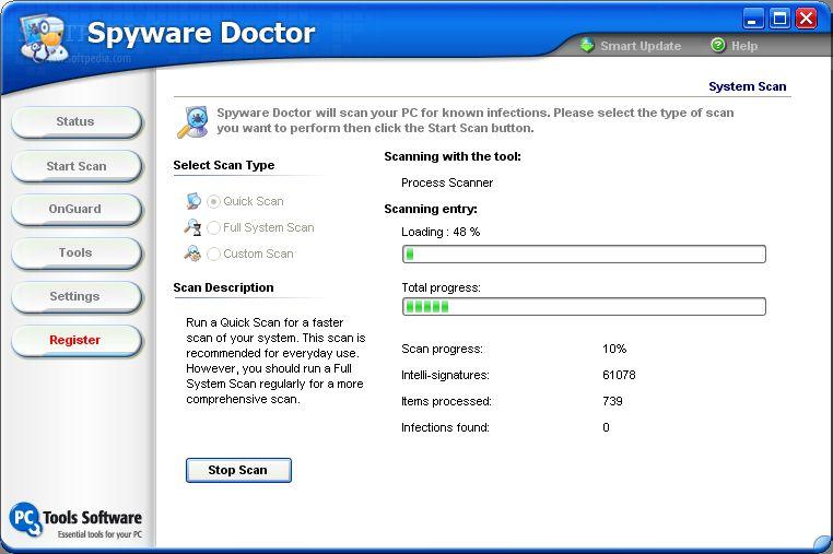 باصدار الساعة سباى وير دكتور 2011 مدمر ملفات التجسس Spyware Doctor 2011 +شرح كامل