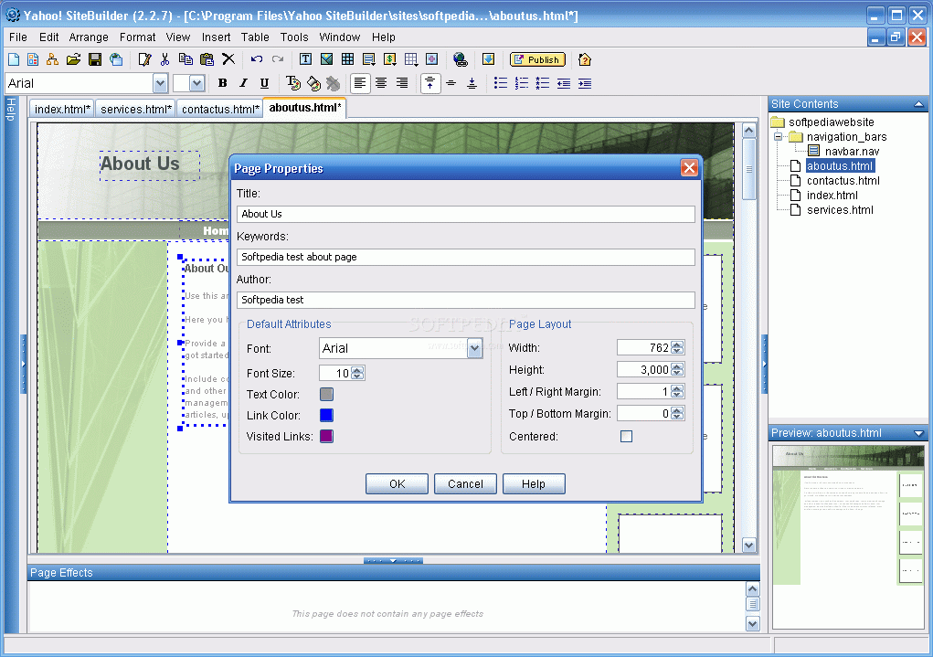 برنامج Yahoo SiteBuilder 2.6 لتصميم مواقع الويب YahooSiteBuilder_016-large.png