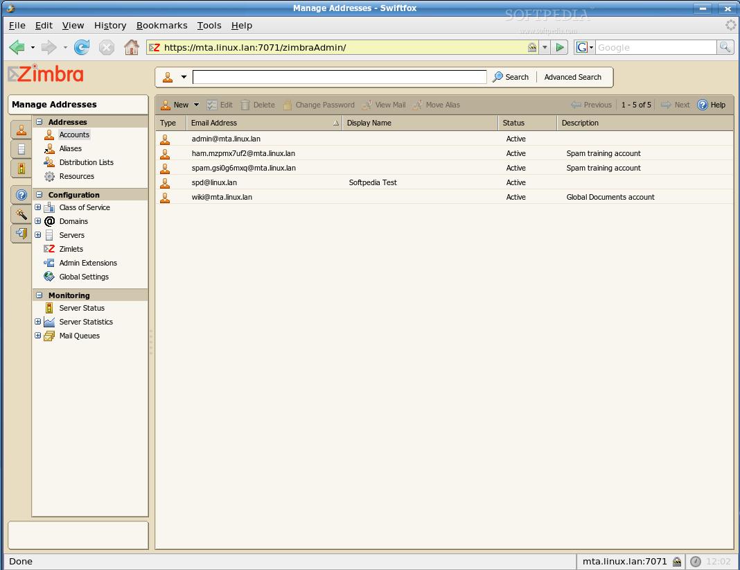 Zimbra Mail Extension