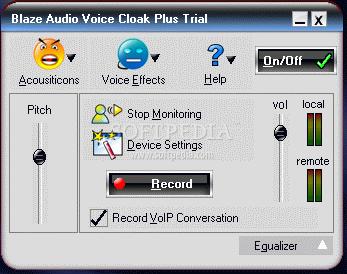 Audio voice cloak blaze plus
